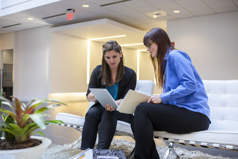 Students looking at Screen